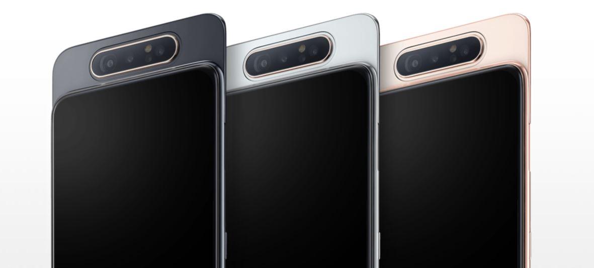 الإعلان رسميًا عن هاتف Samsung ذو الكاميرا الدوارة الجديد Samsung Galaxy A80