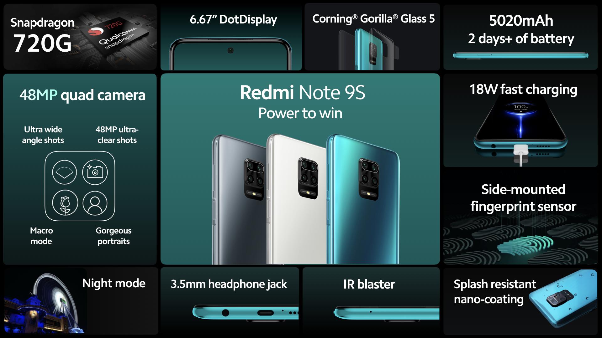 تعرف على مواصفات هاتف Xiaomi Redmi Note 9s