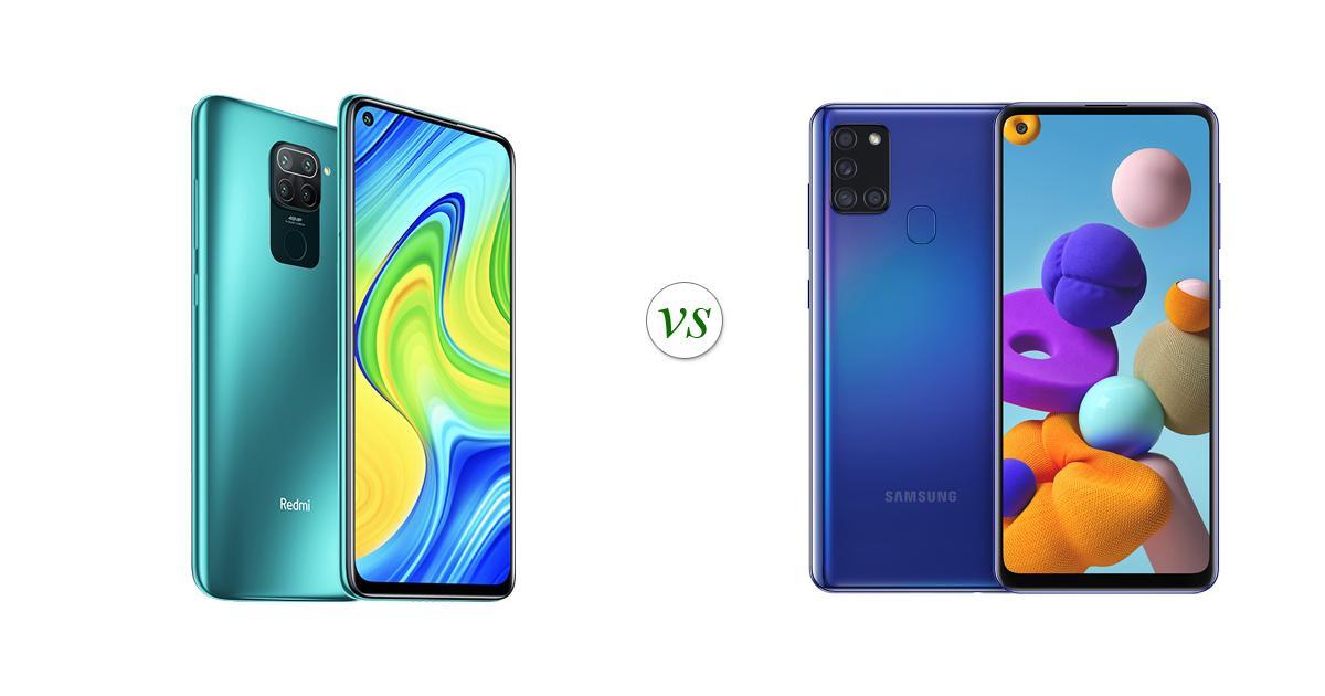 مقارنة Samsung A21s مع Xiaomi Note 9