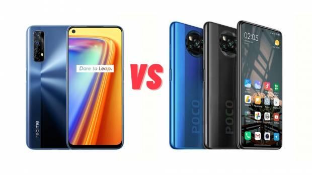 مقارنة بين هاتفي Xiaomi Poco X3 NFC و Realme 7 أيهما أفضل؟