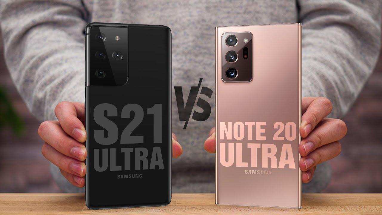 أيهما أفضل Samsung Note 20 Ultra أم Samsung S21 Ultra