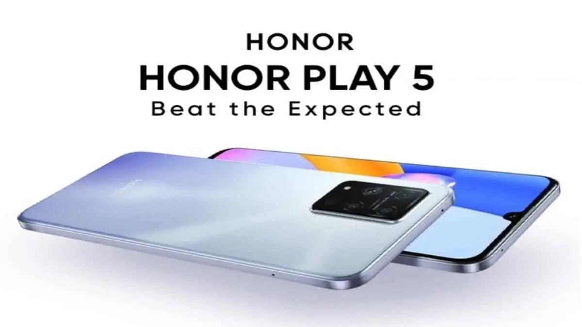 التسريبات الكاملة لهاتف Honor Play5 5G المرتقب