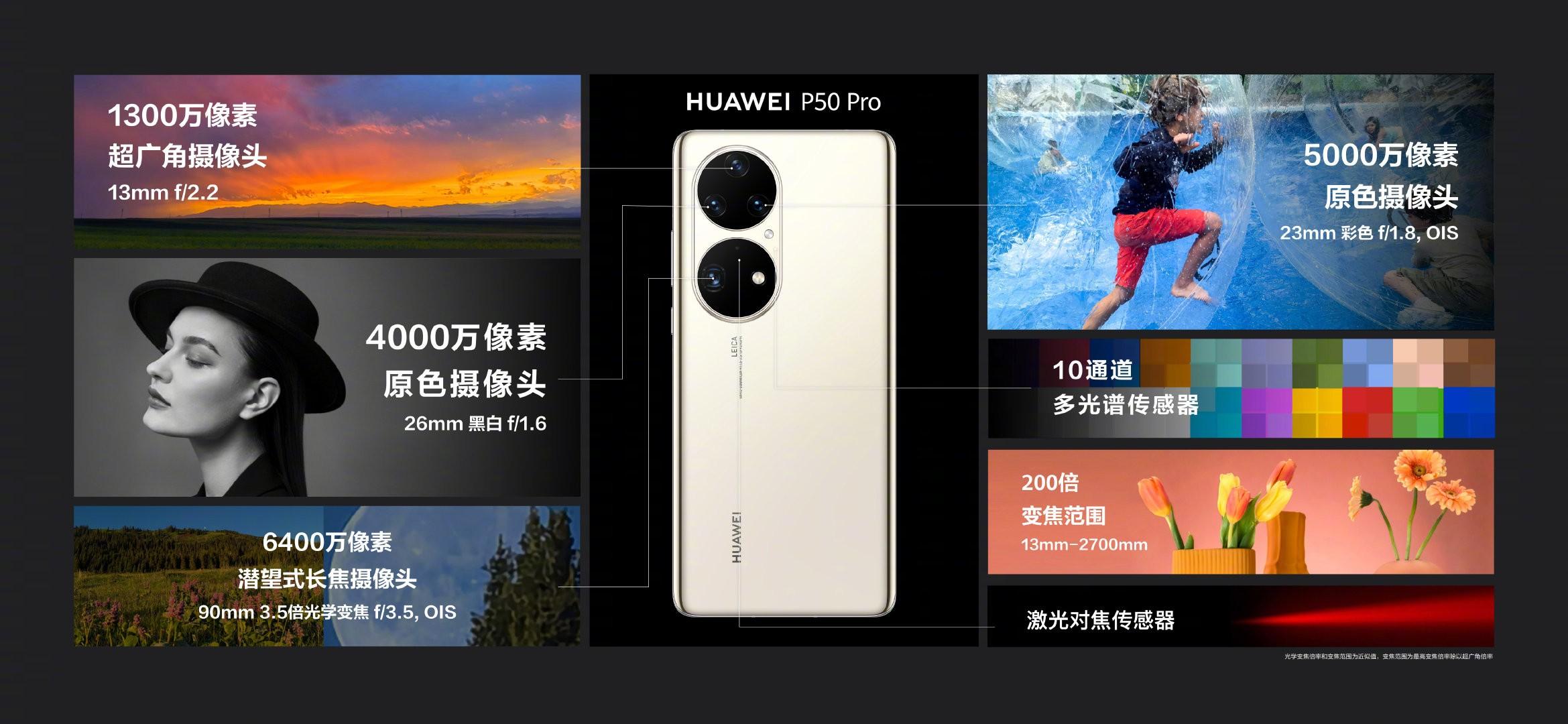 أبرز الاختلافات بين هواتف Huawei P50 وP50 Pro