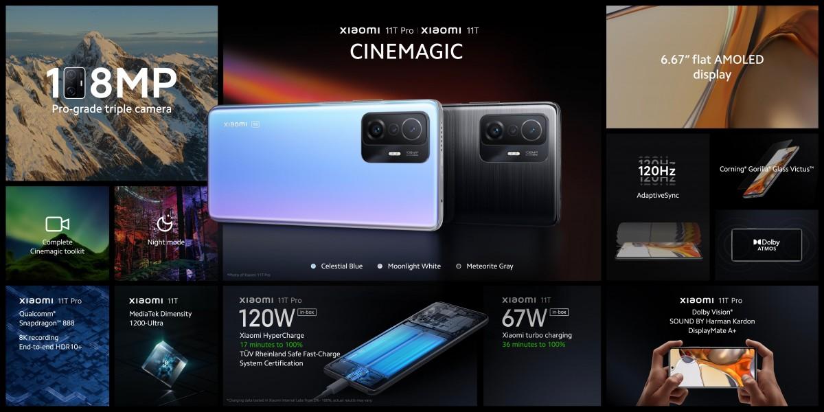 إعلان شاومي عن هواتف Xiaomi 11T 5G