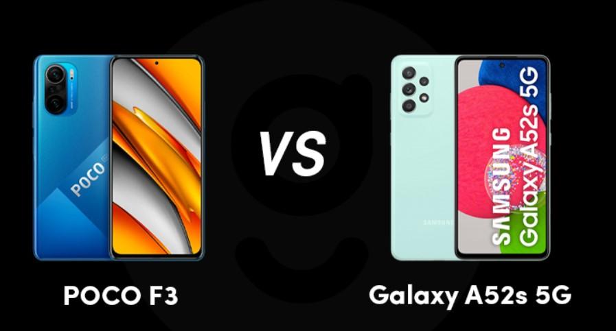 مقارنة بين هاتفي Xiaomi Poco F3 وSamsung A52S
