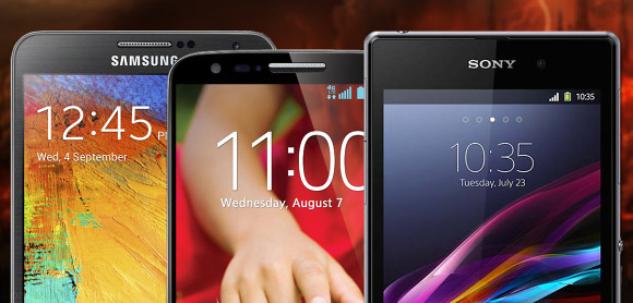 مقارنة LG G2 vs Samsung Galaxy Note 3 vs Sony Xperia Z1
