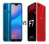 مقارنة بين هاتفي Huawei P20 lite و Oppo F7