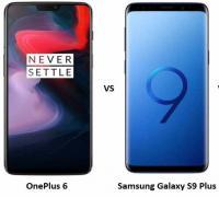 مقارنة بين هاتفي Samsung Galaxy S9 Plus وOnePlus 6