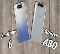 المقارنة الكاملة بين هاتفي الكاميرا الدوارة Asus Zenfone 6 وهاتف Samsung galaxy A80