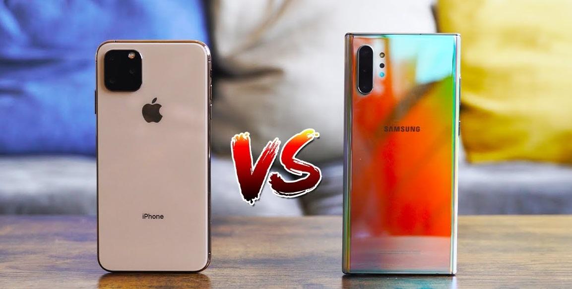 مقارنة الهاتفين الأقوى لعام 2019 هاتف Samsung Galaxy Note 10 Plus وهاتف iPhone 11 Pro Max