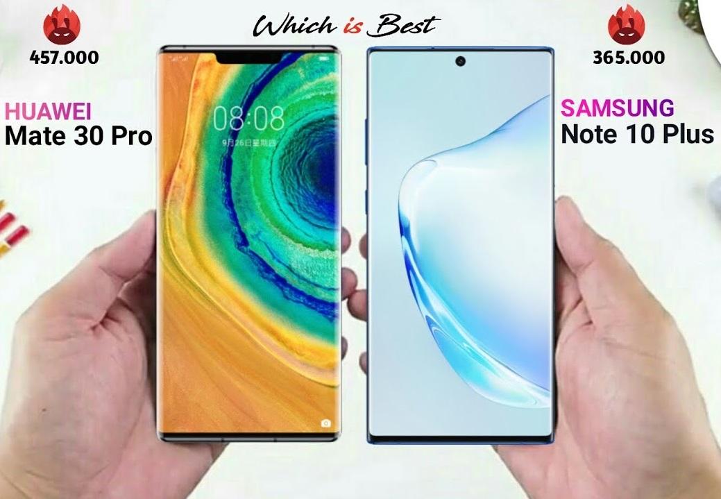 صراع الكبار ... المقارنة بين هاتفي Samsung Galaxy Note 10 Plus وHuawei Mate 30 Pro