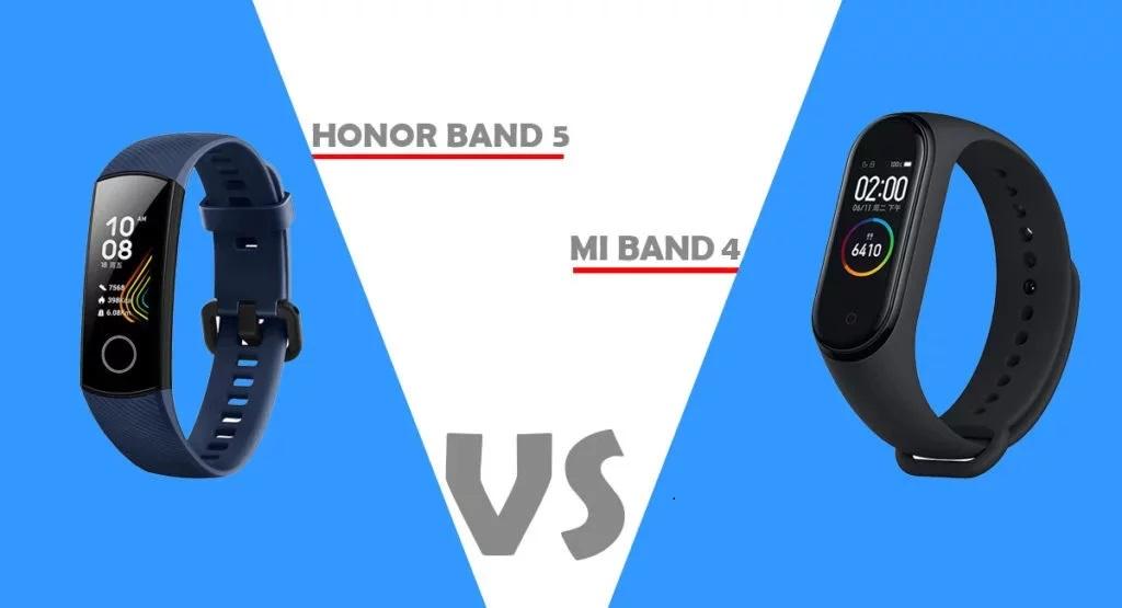 أيهما أفضل ... المقارنة الكاملة بين سوار Xiaomi Mi Band 4 وسوار Honor Band 5