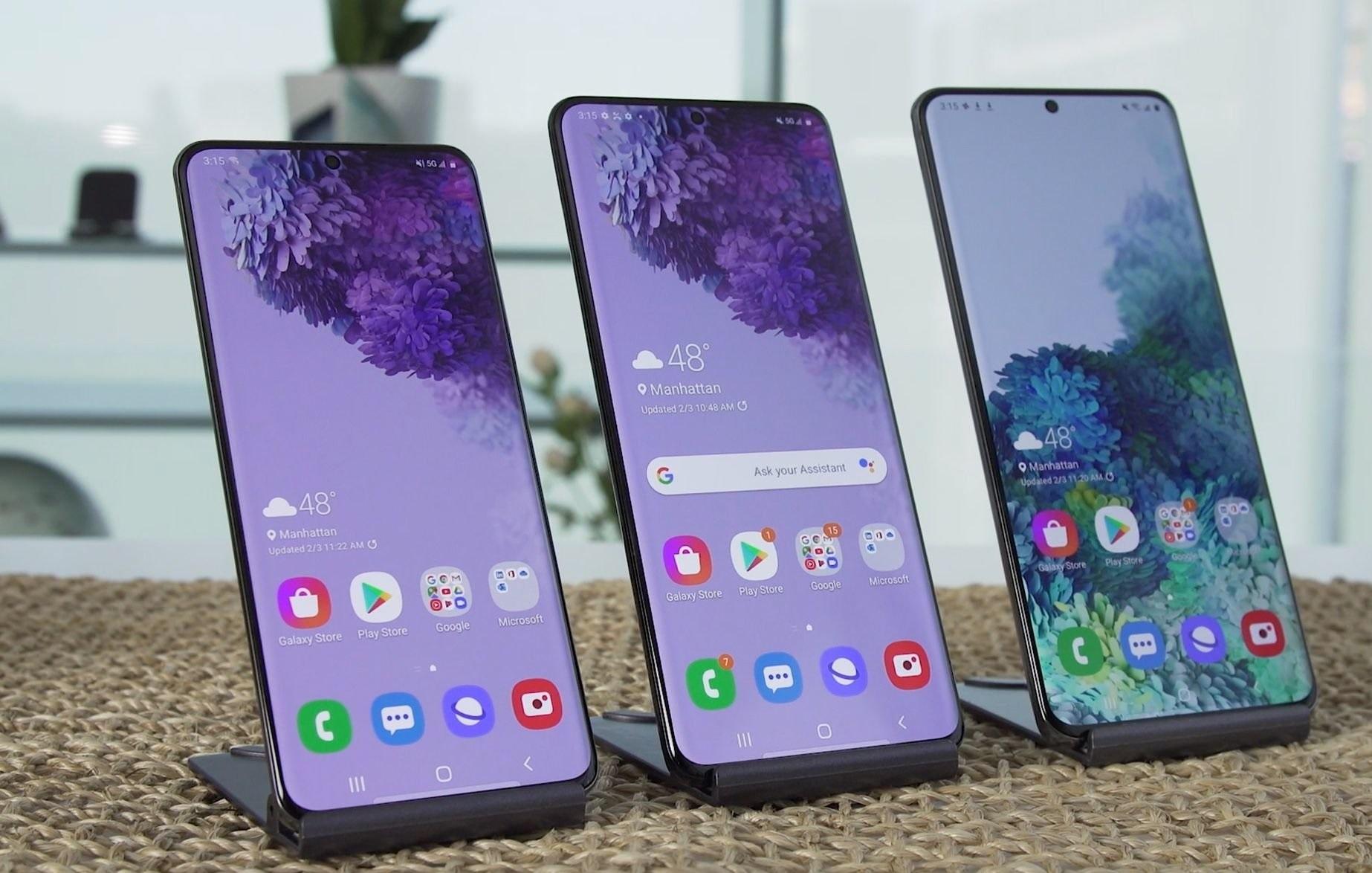 التشابهات والاختلافات بين هواتف Samsung Galaxy S20 الجديدة