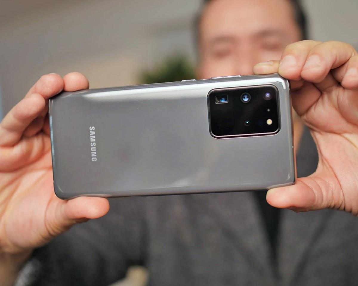الفرق بين مساحات مقاطع الفيديو مع دقة 8K و4K و1080 على هاتف Galaxy S20 Ultra