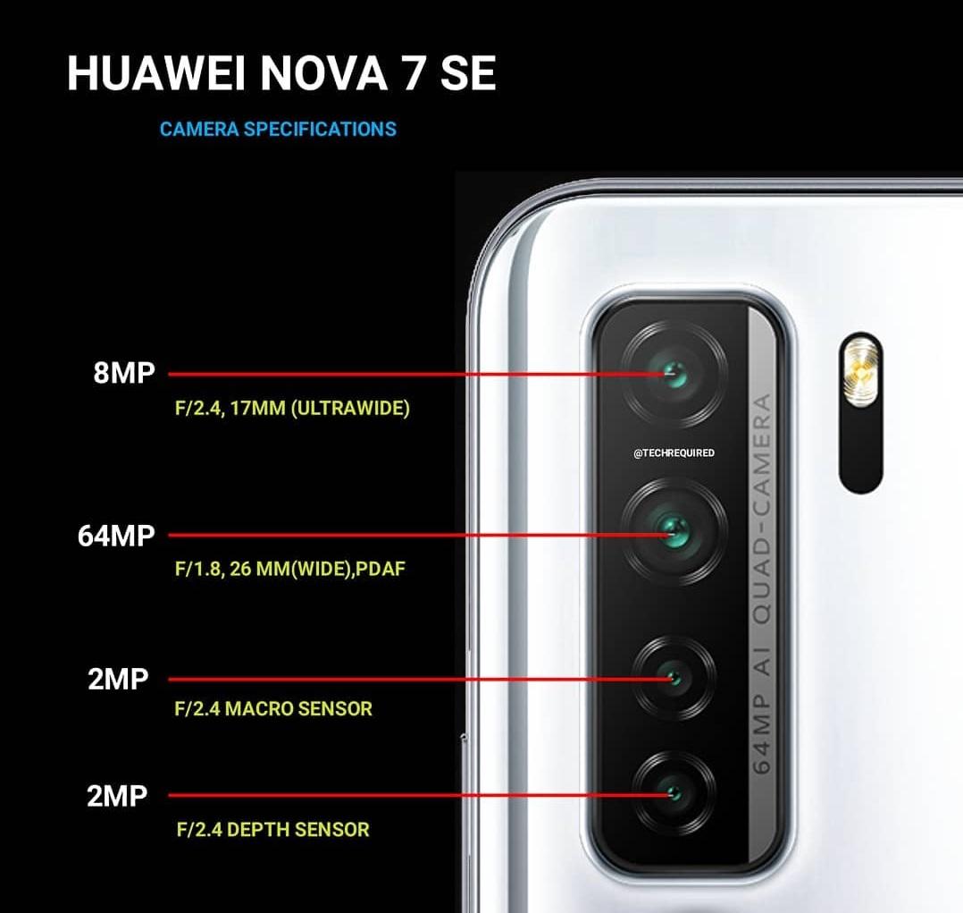 مميزات وعيوب هاتف Huawei Nova 7 SE
