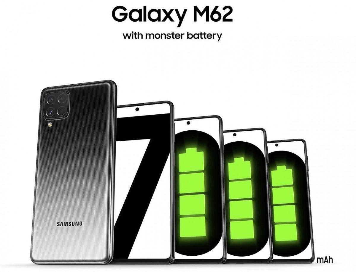 الكشف رسميًا عن هاتف سامسونج الجديد Samsung Galaxy M62