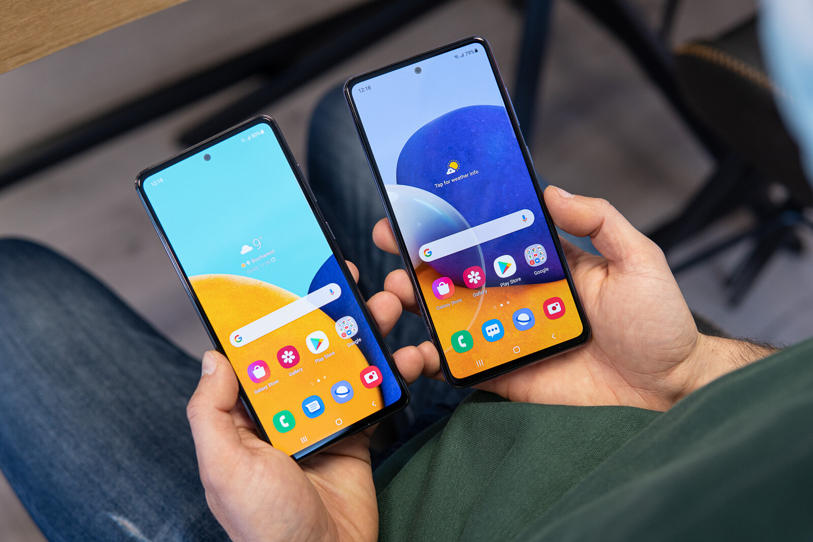 المقارنة بين هاتف Samsung Galaxy A72 وبين هاتف Samsung Galaxy S20