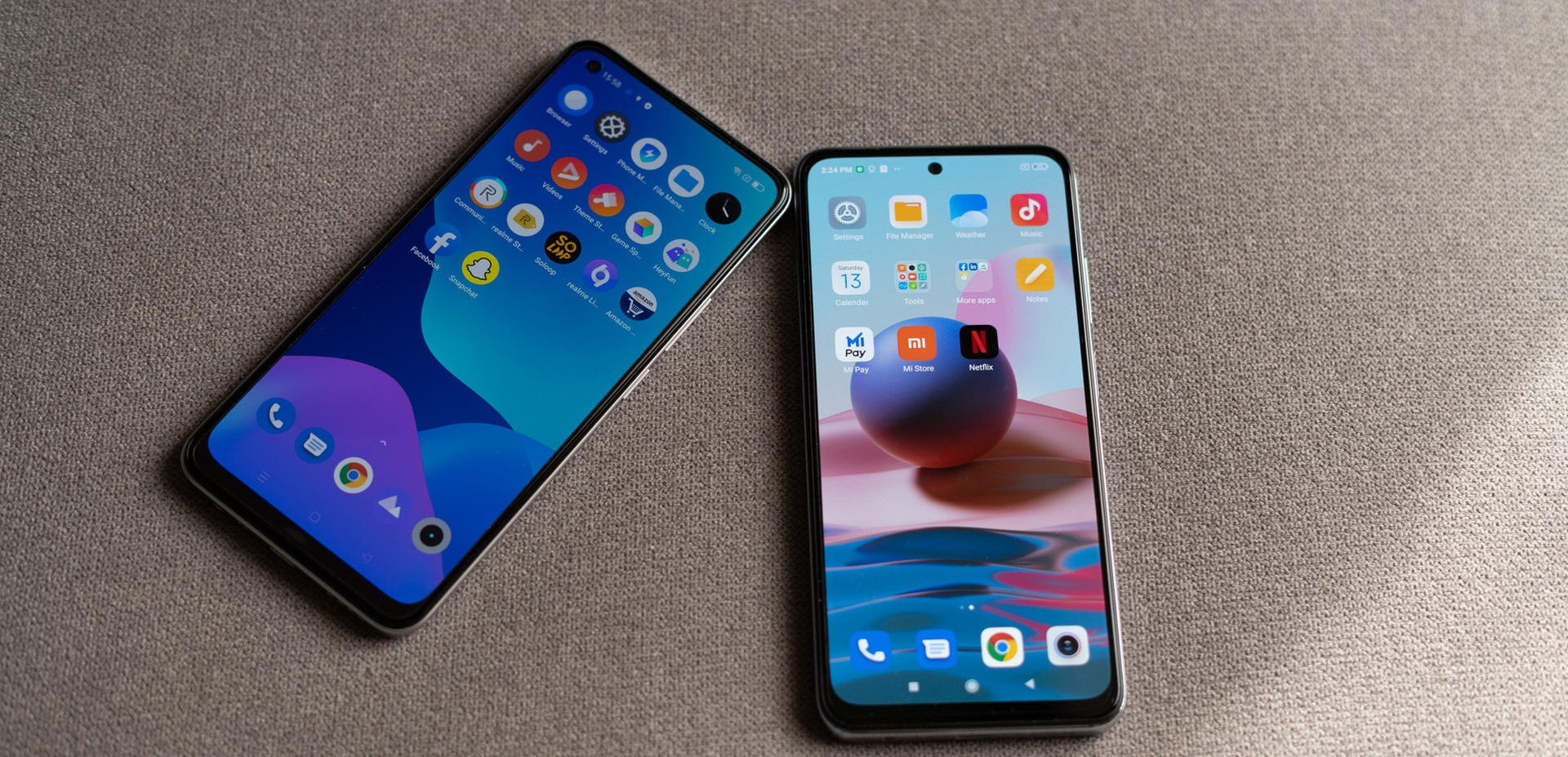 أيهما الأنسب لك ... هاتف Redmi Note 10S أم هاتف Realme 8
